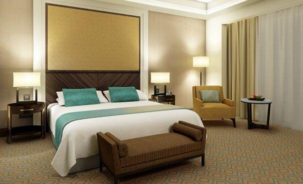 Abraj Kudai on ylellinen, mutta hotellin huoneista valtaosa on siistin pelkistettyjä.