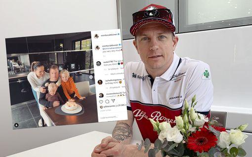 Kimi Räikkönen 41 vuotta! Suloinen perhepotretti julki: Lapset auttavat puhaltamaan kynttilät