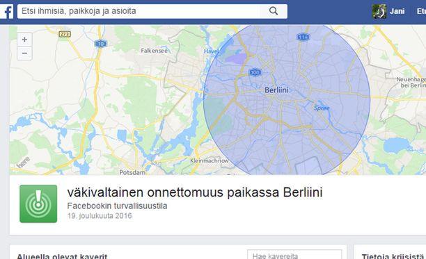 Facebook avasi turvatoiminnon Berliinissä sijaitseville käyttäjilleen.