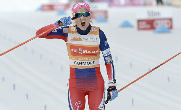 Therese Johaug ei juhli Pyeongchangin olympialaisissa.