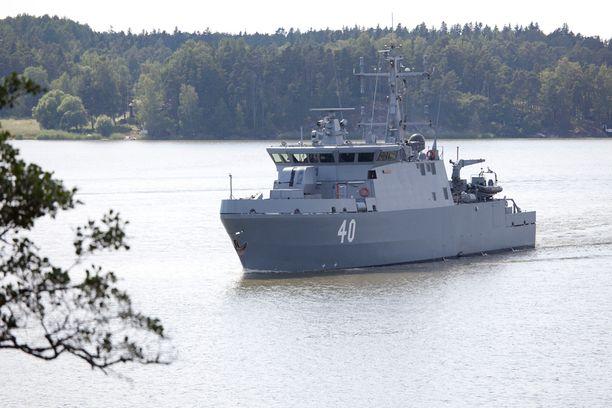 Miinantorjuntaharjoitukseen osallistuu Suomesta Merivoimien uusinta aluskalustoa, esimerkiksi Katanpää-luokan miinantorjunta-alukset Katanpää (40) ja Purunpää (41). Kuvat vuodelta 2014. PUOLUSTUSVOIMAT
