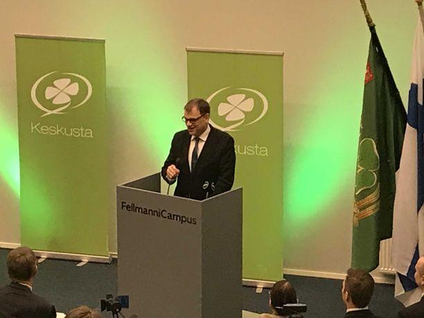 Keskustan puheenjohtaja, pääministeri Juha Sipilä avasi keskustan puoluevaltuustokokouksen lauantaina Lahdessa.
