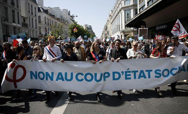 Ranskalaiset ovat viime aikoina osoittaneet mieltään tiuhaan.