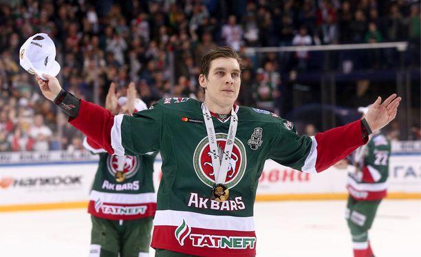 Atte Ohtamaa voitti Ak Bars Kazanin joukkueessa KHL-mestaruuden.