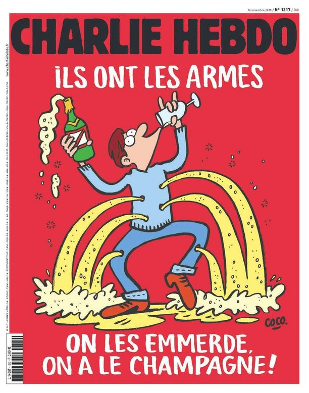 Charlie Hebdo reagoi Pariisin terrori-iskuun tällä kansikuvalla.
