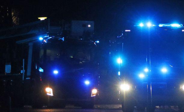 Pelastuslaitos sai hälytyksen Riihimäen Puutarhakadulle sunnuntain ja maanantain välisenä yönä. Kuvituskuva