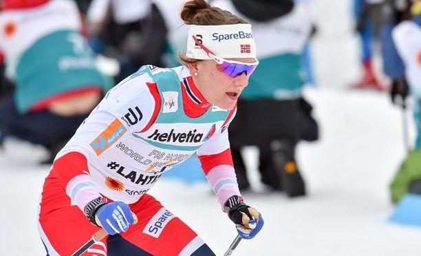 Maiken Caspersen Fallan sprintti meni pipariksi Drammenissa.
