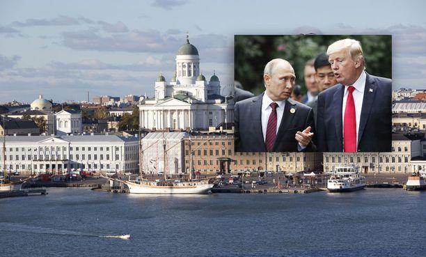 Yhdysvaltain presidentti Donald Trumpin ja Venäjän presidentti Vladimir Putinin tapaaminen nostaa hotelliyöpymisen hinnat pilviin.