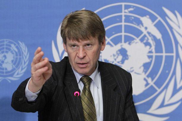 Martin Scheininin mukaan USA lähettää viestin, että maa sanelee oman linjansa ja jos YK ei kuuntele, se on YK:n oma vika. Arkistokuva vuodelta 2010.