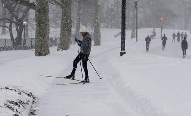 Tältä New Yorkissa näytti lauantaina 23. tammikuuta.