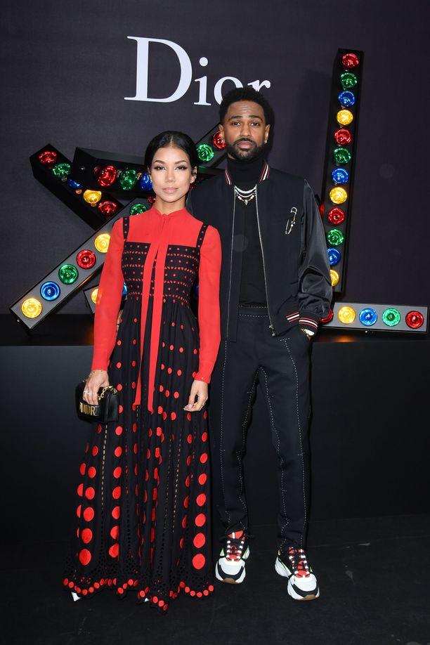 Jhene Aiko ja rappari Big Sean Dior Homme näytöksessä Pariisissa.