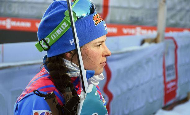 Krista Pärmäkoski kaatui kolmasti sunnuntaina Tour de Skillä.