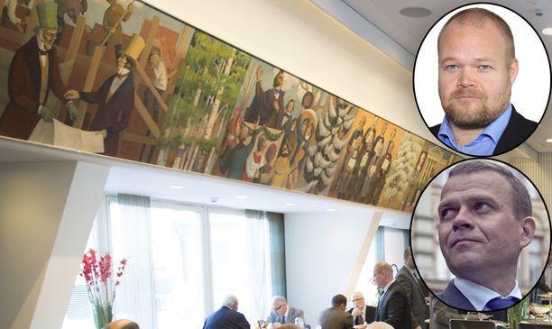 Petteri Orpo ja Janne Pesonen uhkaavat erota Helsingin Suomalaisesta Klubista, jos naisia ei hyväksytä jäseniksi marraskuun kokouksen yhteydessä.