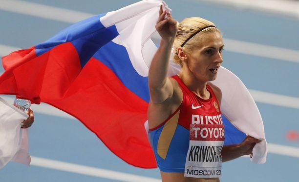 Antonina Krivoshapka myönsi käyttäneensä dopingia.