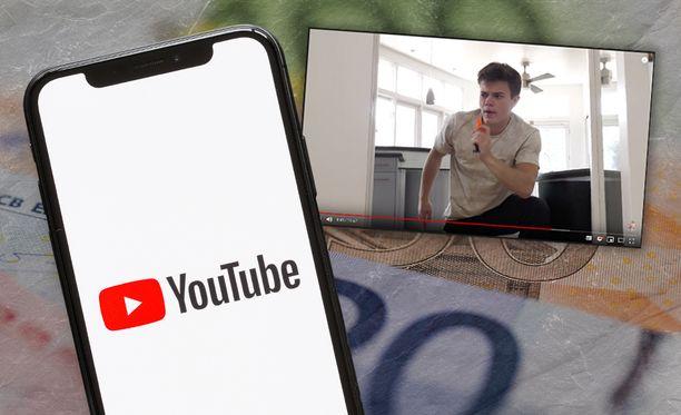 Yli 100 miljoonan katselukerran videosta voi netota kymmeniä tuhansia euroja.