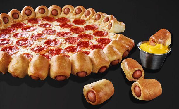Tästä pizzasta eivät reunat jää syömättä, ravintolaketju lupailee.