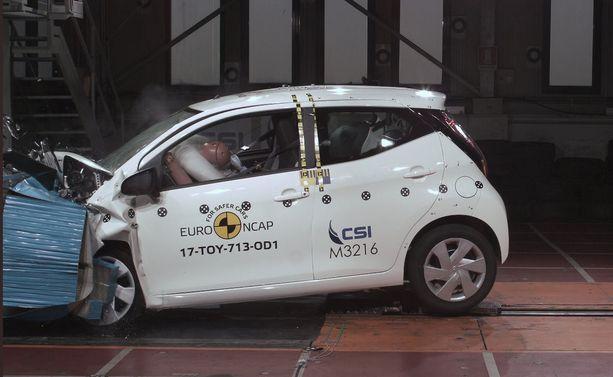 Pieni Toyota Aygo menetti vain yhden tähden turvapaketilla höystetyllä versiollaan.