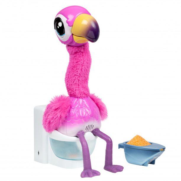 Myös vessanpöntöllä istuva Little live pets gotta go -flamingolelu on interaktiivinen hauskuuttaja.