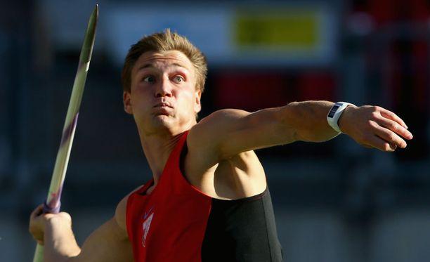 Thomas Röhler voitti Kuortaneen keihäskisan uudella ennätyksellään.