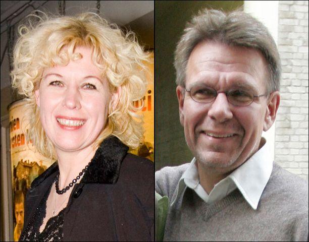 Leena Lander ja Hannu Raittila ovat tuore kirjailijapariskunta.