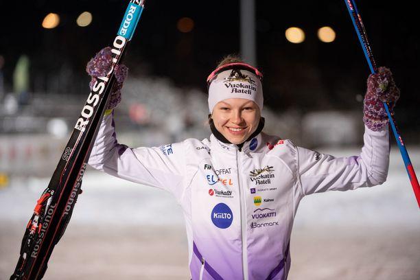 Eveliina Piippo panostaa toistaiseksi täysillä hiihtoon.