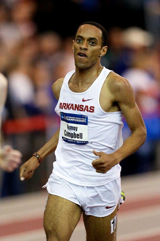 Kemoy Campbell  Arkansasin yliopistoa edustamassa vuonna 2015.