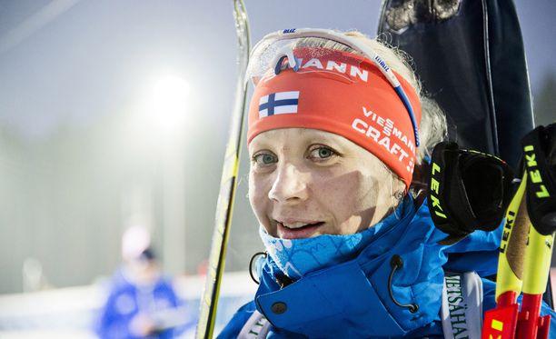 Nuorten Leijonien MM-finaali valvotti Kaisa Mäkäräistä.