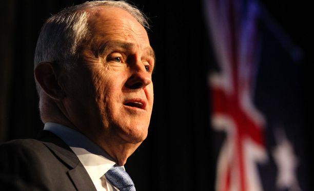 Australian pääministeri Malcolm Turnbull puhumassa 2. syyskuuta.