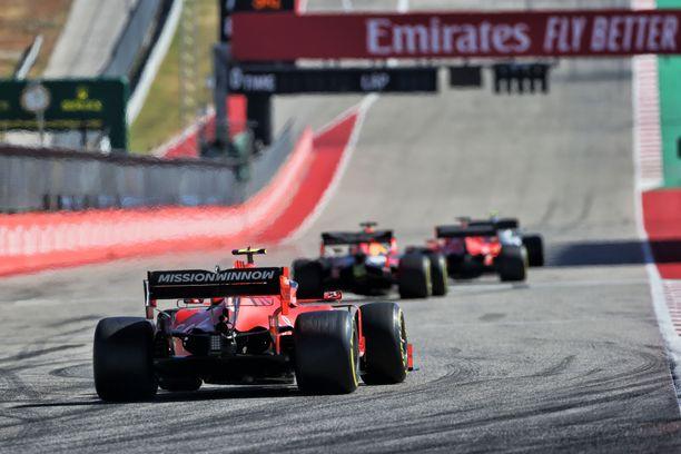 Charles Leclercin Ferrari ei ollut kilpailukykyinen USA:n F1-osakilpailussa.