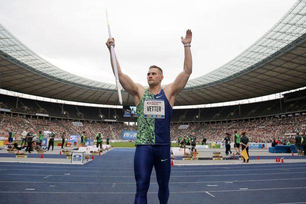 Johannes Vetter on hallitseva maailmanmestari.