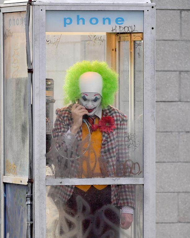 Joaquin Phoenix Joker-elokuvan kuvauksissa New Yorkissa 24. syyskuuta.