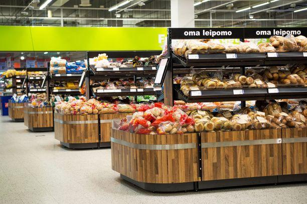 Jumbon Citymarketiin tulee paljon leipää lähileipomoista. Myös tämä takaa tuoreuden ja siten säilyvyyden.