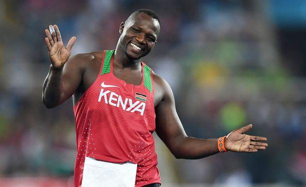 Julius Yego voitti Riossa hopeaa.