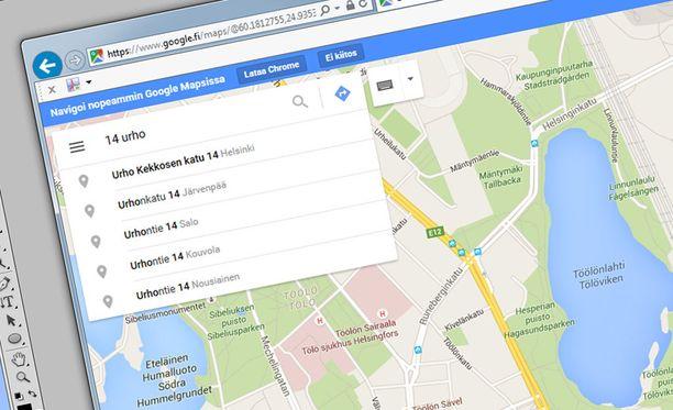 Niksi nopeuttaa oikean osoitteen löytämistä Google Mapsissa.