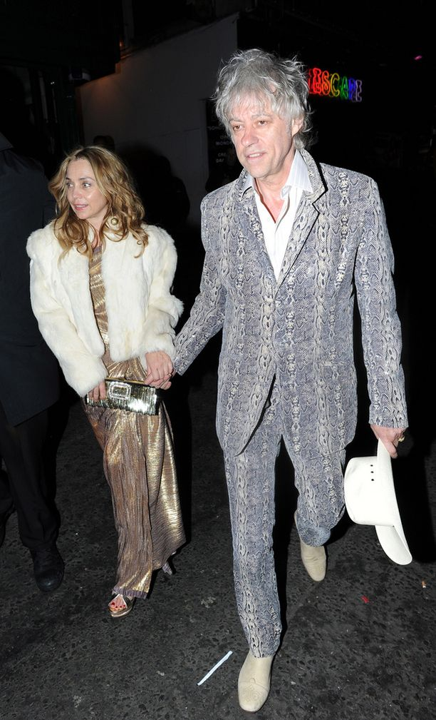 Bob Geldof ja Jeanne ehtivät olla yhdessä 19 vuotta ennen kosintaa.