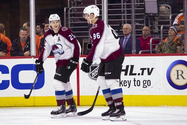 Nathan MacKinnon ja Mikko Rantanen ovat yksi NHL:n pelätyimpiä tutkapareja.