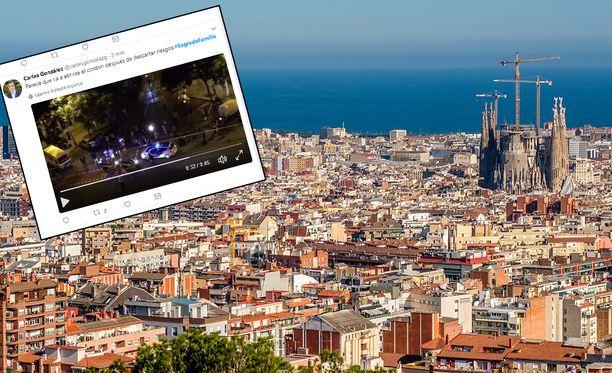 Uutistoimisto Reutersin mukaan Katalonian poliisi on lähettänyt pommiryhmän tutkimaan pakettiautoa kirkon lähistöllä.
