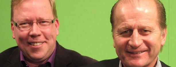 Ari Mennander ja Juhani Tamminen nostavat isot kiekkoasiat pöydälle.
