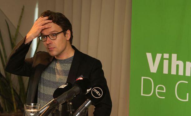 Ville Niinistö ilmoitti vihreiden eroaikeista maanantaina Helsingissä.