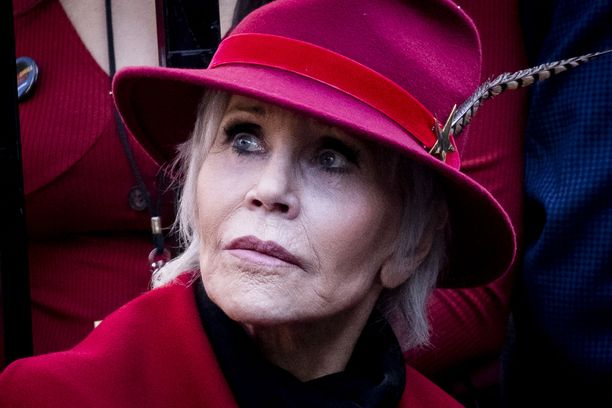 Jane Fonda osallistui ilmastonmuutoksen vastaiseen mielenosoitukseen helmikuussa Los Angelesissa.
