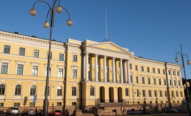 Valtioneuvoston kanslia Helsingissä.