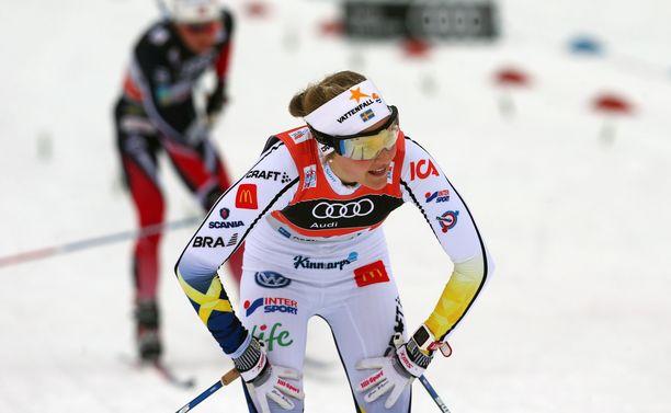 Stina Nilsson oli yksi Rikard Gripin parhaista aseista hiihtoladuilla.