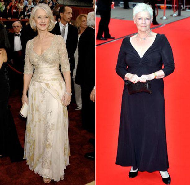 Helen Mirren ja Judi Dench olivat myös naisten mieleen.