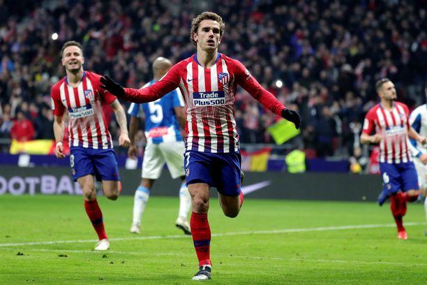 Antoine Griezmann tälläsi Atléticon voitokkaasti joulutauolle.