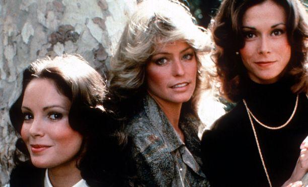 Charlien enkelit vuonna 1976. Vasemmalta oikealle, Jaclyn Smith, Farrah Fawcett ja Kate Jackson.