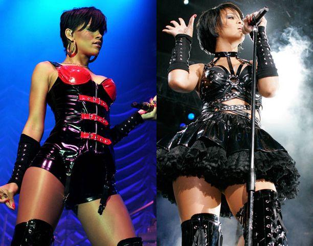 Osa Rihannan asuista on kuin suoraan seksiliikkeiden rekeiltä.
