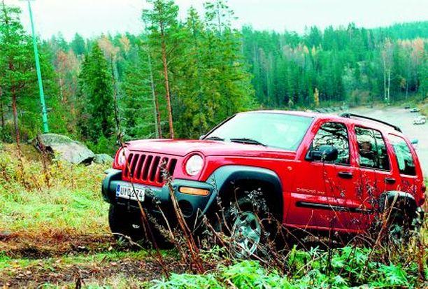 MAASTOSSA Jeep Cherokee, se lyhyt, oli erittäin maastokelpoinen. Lähitulevaisuudessa lyhyt Cherokee korvautuu Jeep Patriotilla.