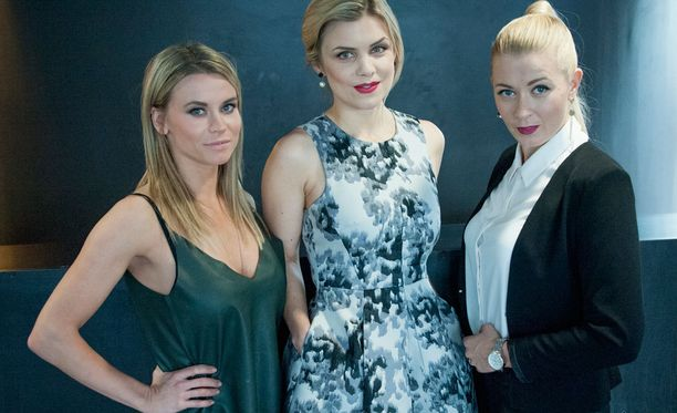 Tiia Elg, Irina Vartia ja Monika Lindeman viihtyvät hyvin Salkkari-näyttelijöinä.