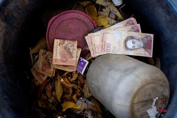 Venezuelan bolivarilla ei ole juurikaan arvoa.