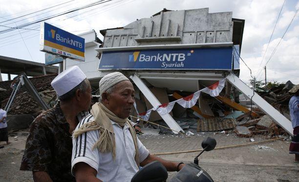 Järistyksiä on Lombokin lomasaarella tapahtunut viime viikoina tiheästi.